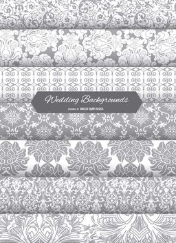 Wedding Invitation Background patterns - Free vector #199811