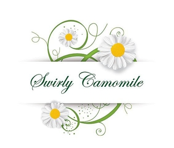 Swirling Chamomile Greeting Card - бесплатный vector #199821