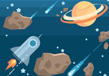 Space Vector Set - vector gratuit #199861