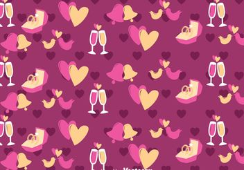 Purple Love and Wedding Vector Pattern - Kostenloses vector #199911