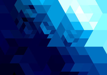 Abstract bright blue geometric shape - vector gratuit #199921