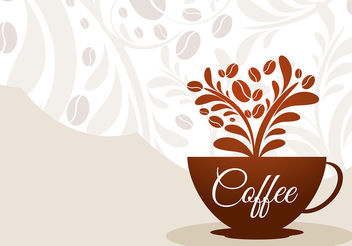 Coffee Cup Floral Vector - бесплатный vector #199941