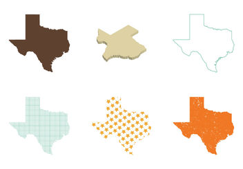 Free Texas Map Vector - бесплатный vector #200191