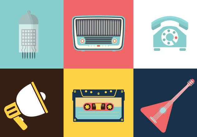 Vintage Electronics - Free vector #200261