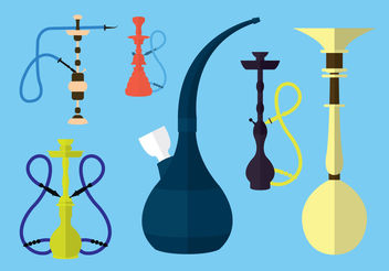 Hookah Vector Collection - vector gratuit #200271