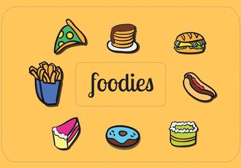 Creative Food Vectors - vector gratuit #200291