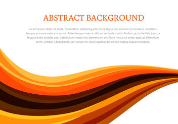 Colorful Wave Abstract Background Vector - vector #200311 gratis