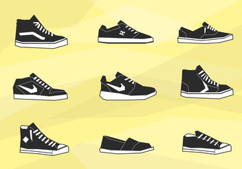 Mens shoes icons - vector gratuit #200381