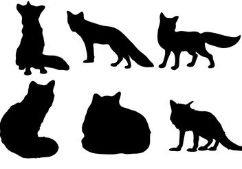 Free Fox silhouette Vector - Free vector #200401