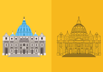 St Peters Basilica Vectors - бесплатный vector #200431
