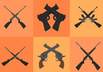 Crossed Guns - vector gratuit #200471
