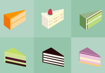 Cake Slice Isolated - vector gratuit #200481