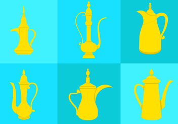Arabic Coffee Pot - vector gratuit #200491