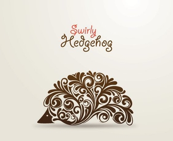 Ornaments Swirling in Hedgehog Shape - Free vector #200661