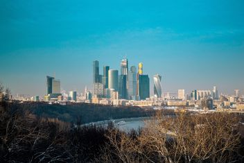 Moscow cityscape under blue sky - бесплатный image #200741
