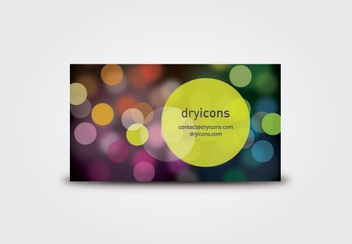 Colorful Bokeh Lights Business Card - бесплатный vector #200771