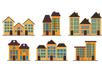 Townhomes Vectors - бесплатный vector #200861