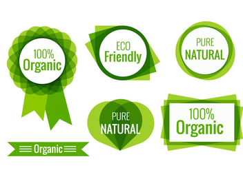 Eco friendly labels - vector gratuit #200891