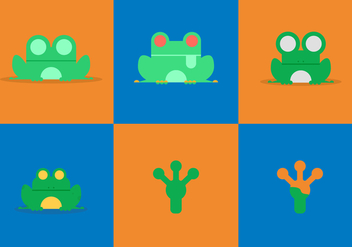 Free Green Tree Frog Vectors - Free vector #200901