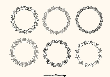 Vector Decorative Frames Set - vector gratuit #201191