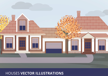 Houses Vector Illustration - Free vector #201231