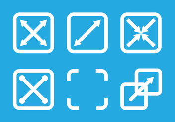 Full screen icon vectors - Free vector #201261