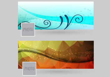 Facebook cover vector - vector #201291 gratis