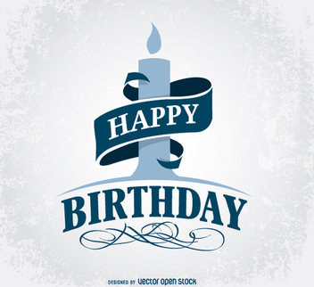 Happy Birthday Greeting Design - vector gratuit #201381