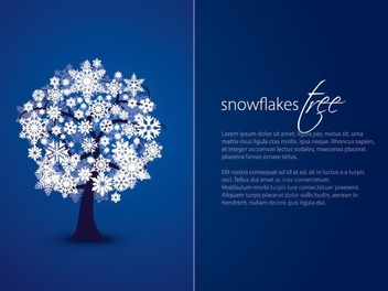 Twofold Snowflake Tree Blue Card - vector gratuit #201401