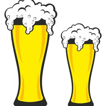 Free Pint of Beer Vectors - vector gratuit #201771