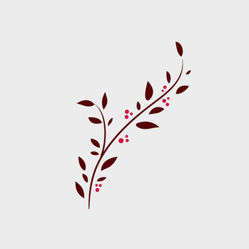Free Vector Doodle Branch With Berries - Kostenloses vector #201811