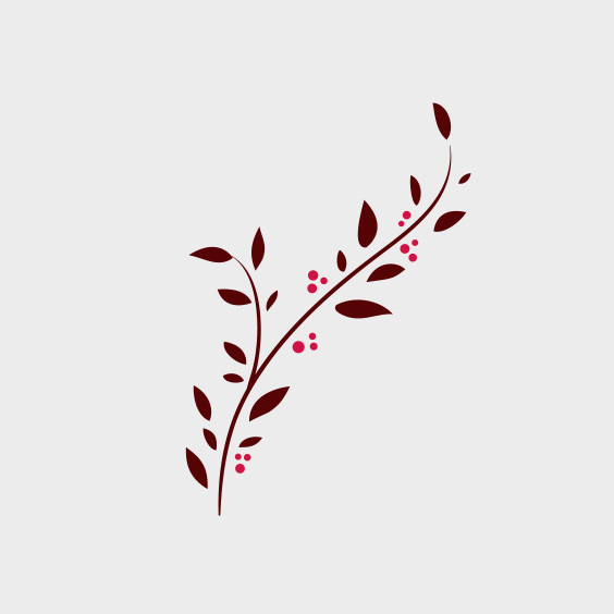 Free Vector Doodle Branch With Berries - Free vector #201811