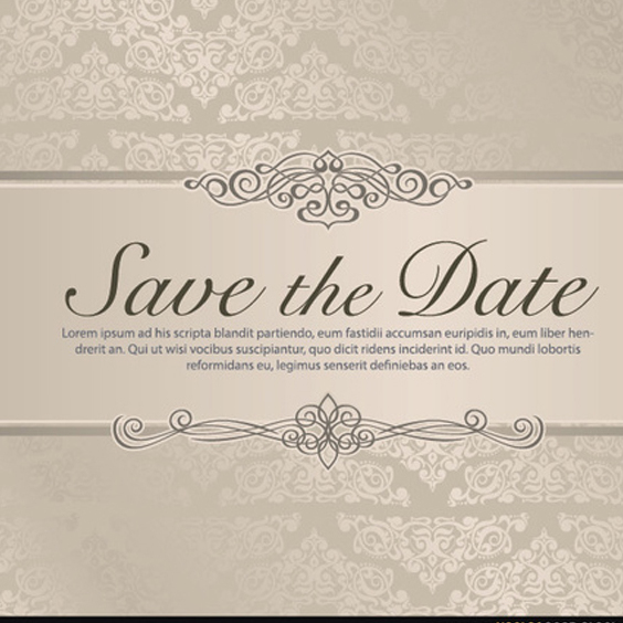 Wedding Save the Date Vector - vector gratuit #201861