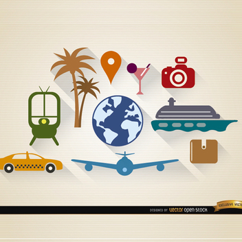 10 Free Travel and Tourism Vectors - vector #201881 gratis