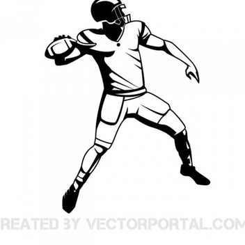 Free Vector American Football Player - бесплатный vector #201931