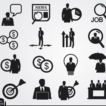 20 Free Vector Businessman icons - Kostenloses vector #201961