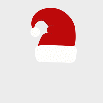 Simple Santa Hat Vector - vector gratuit #202091