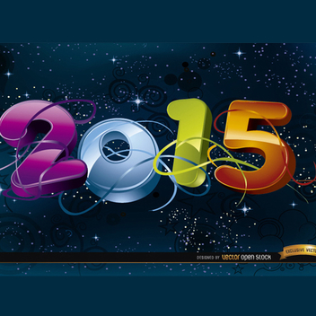2015 Space Background Vector - vector #202111 gratis