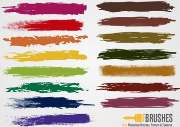 Colorful Brushes - vector gratuit #202171