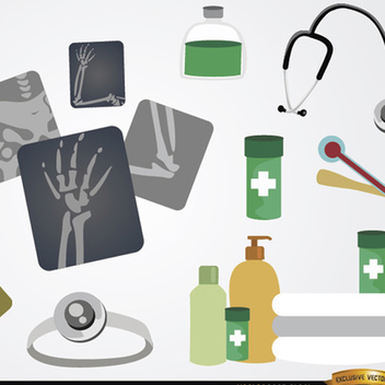 Medical Icon Vector element set - Free vector #202181
