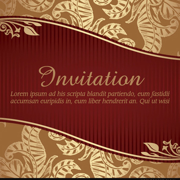 Marriage Invitation Vector with Ribbon - vector #202241 gratis