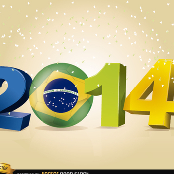 2014 Soccer World Cup Vector - Free vector #202271