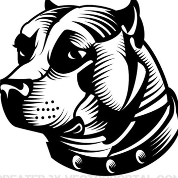 Pit Bull Dog Vector - Free vector #202321