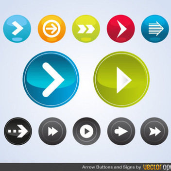 Free Vector Arrow Buttons - vector gratuit #202351