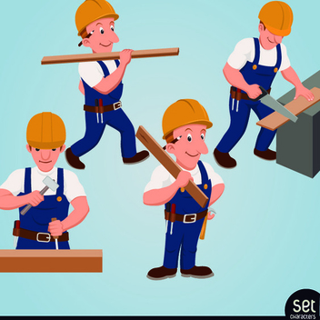 Free Vector Carpenter Character - Kostenloses vector #202381