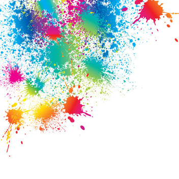 Bright Color Splatter Vector - vector #202461 gratis
