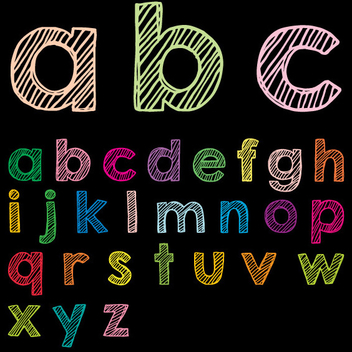 Lower Case ABC Vector - Free vector #202481