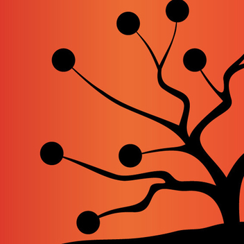 Abstract Tree Vector Two - vector #202491 gratis