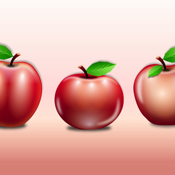 Free Vector Apples - Kostenloses vector #202601