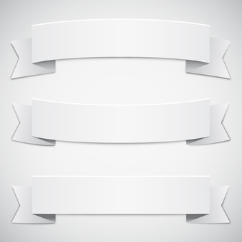 Free Vector White Ribbons - Free vector #202661